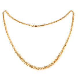 Vicenza Collection 9K Yellow Gold Graduated Spiga Necklace (Size 18 with 2 inch Extender), Gold wt 6.60 Gms.