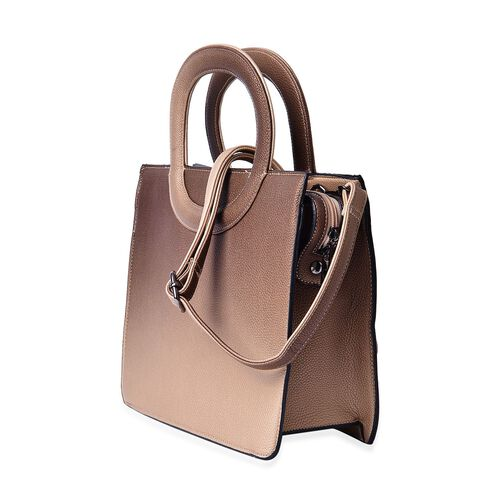 Golden Colour Tote Bag with Adjustable Shoulder Strap (Size 29x24.5x11 Cm)