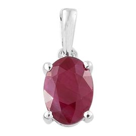 9K White Gold 1 Carat AAA Burmese Ruby Solitaire Pendant