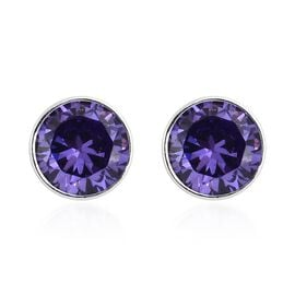 Super Auction - ELANZA AAA Simulated Tanzanite (Rnd 5mm) Stud Earrings (with Push Back) in Sterling Silver
