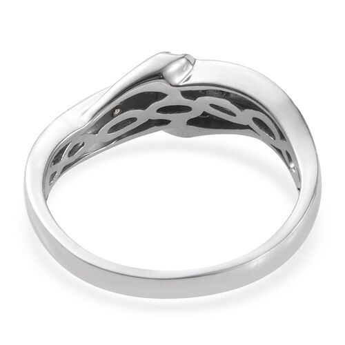 Diamond (Rnd) Ring in Platinum Overlay Sterling Silver
