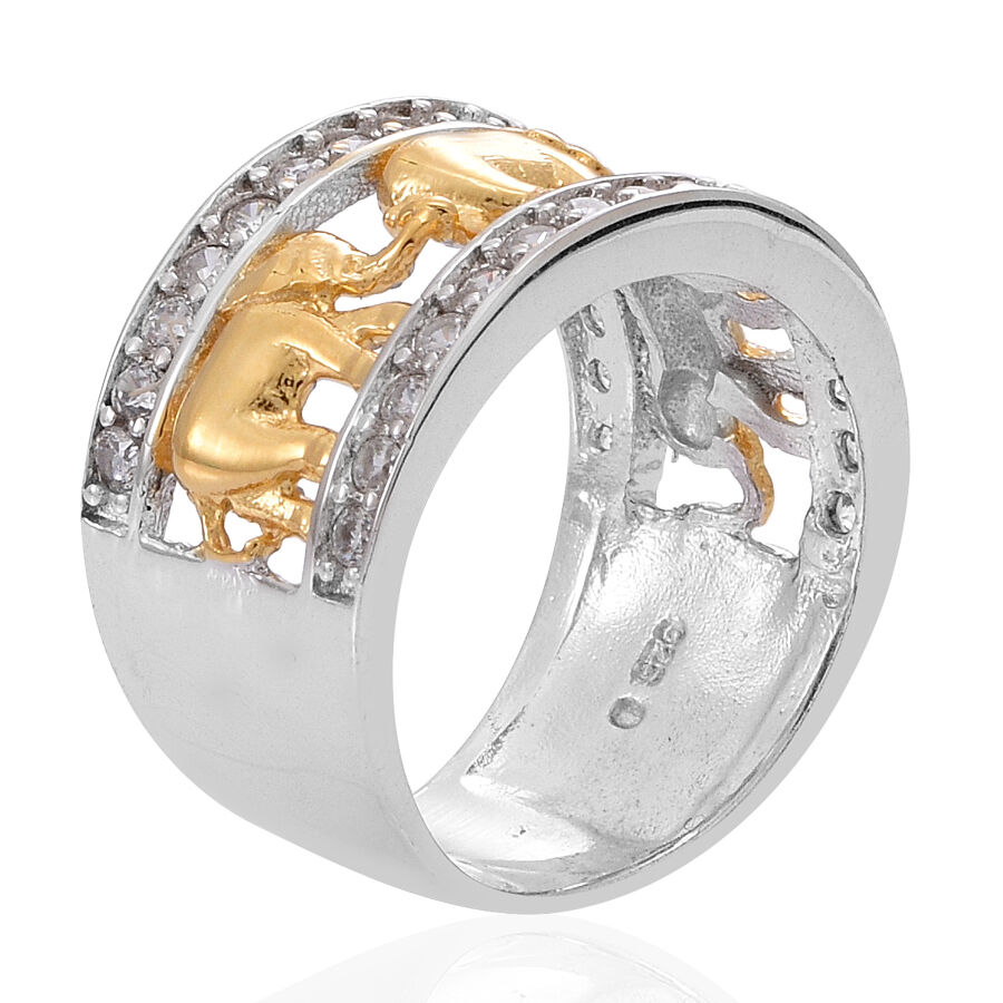 i orders watches ring on elephant j and shipping overlay divina rings silver goldtone free overstock product over diamond engagement jewelry accent earring