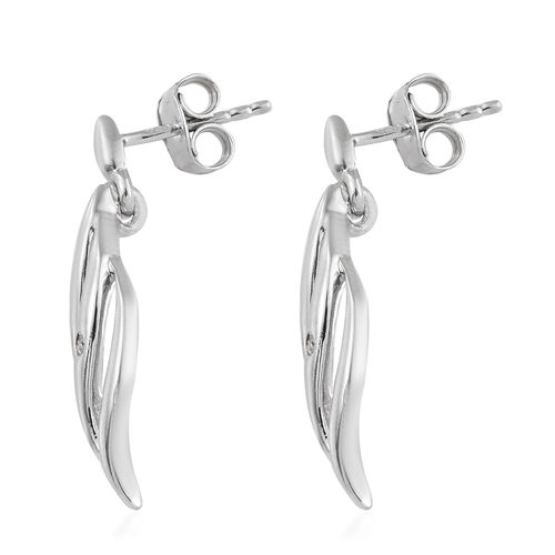 Diamond Earrings in Platinum Plated Silver (with Push Back)