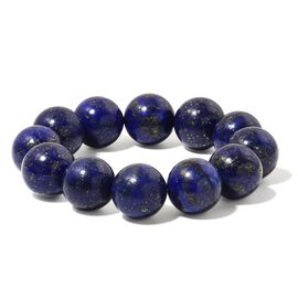 Limited Edition - Large AAA Lapis Lazuli (18mm) Ball Beads Stretchable Bracelet (Size 6.5-9 Approx) 558.500 Ct.