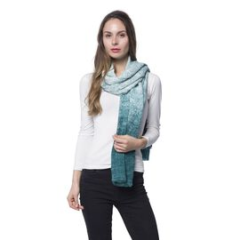 Dark Green and Light Green Colour Digital Scarf (Size 180x85 Cm)