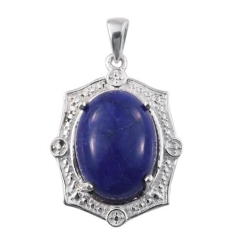 Blue Howlite (Ovl) Pendant in Sterling Silver 12.000 Ct.