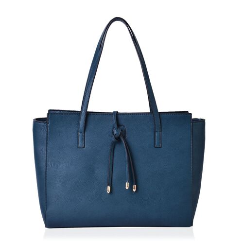 Turquoise Colour City Carryall Big Size Tote Bag (Size 42x35x28x13 Cm)
