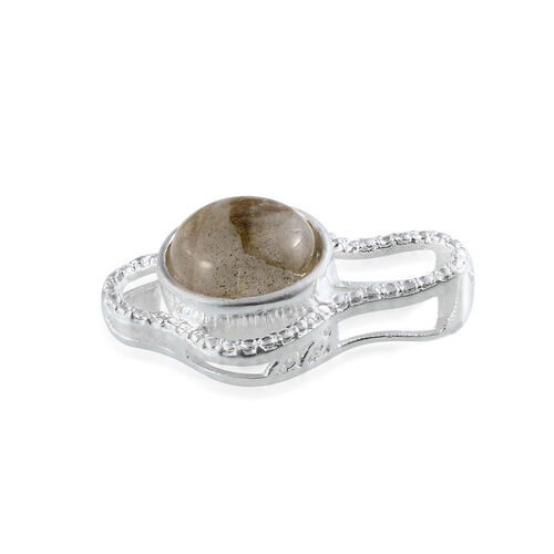Labradorite (Rnd) Solitaire Pendant in Sterling Silver 4.000 Ct.