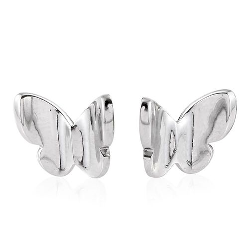 RHAPSODY Butterfly Stud Earrings in 950 Platinum 4.80 gms (with Screw Back)