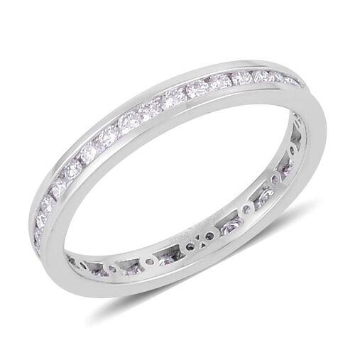RHAPSODY 950 Platinum 0.50 Carat Diamond Full Eternity Band Ring IGI Certified VVS E-F