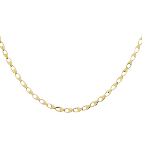 Close Out Deal 9K Yellow Gold Oval Link Necklace (Size 18), Gold wt 5.60 Gms.