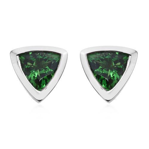 RHAPSODY 950 Platinum AAAA Tsavorite Garnet (Trl) Stud Earrings (with Screw Back) 0.800 Ct.