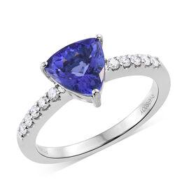 RHAPSODY 950 Platinum 2.10 Ct AAAA Tanzanite Ring with Diamond (VS/E-F)