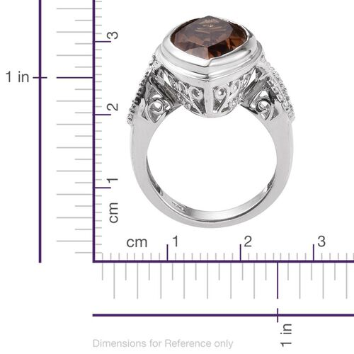 Alexite (Mrq) Solitaire Ring in Platinum Overlay Sterling Silver 9.250 Ct.