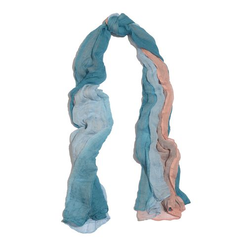 100% Modal Blue and Pink Colour Ombre Scarf (Size 170x100 Cm)