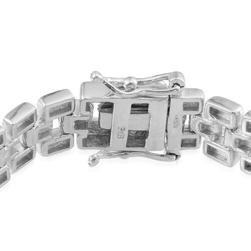 ION Plated Platinum Bond Bracelet (Size 7.5)