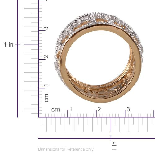 Diamond (Rnd) Band Ring in ION Plated 18K Yellow Gold Bond