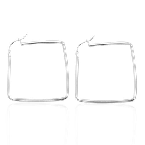 Close Out Deal Sterling Silver Hoop Earrings (With Clasp), Silver wt 4.30 Gms.