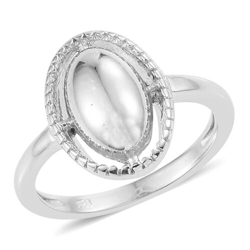 Platinum Overlay Sterling Silver Ring, Silver wt. 3.62 Gms.
