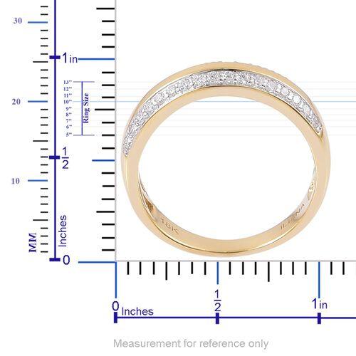 ILIANA 18K Yellow Gold IGI Certified Diamond (Rnd) (SI G-H) Band Ring 0.500 Ct.