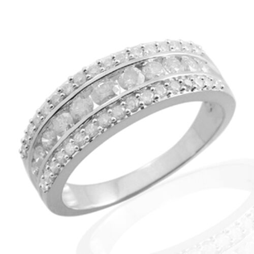 9K W Gold GSI Certified Diamond (Rnd) (I 3 /G-H) Ring 1.000 Ct.