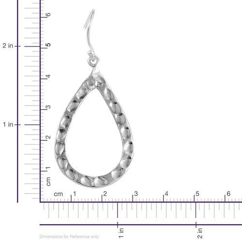Designer Inspired Sterling Silver Teardrop Hook Earrings, Silver wt 6.38 Gms.