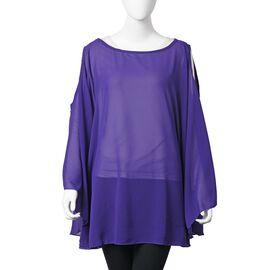 Designer Inspired- Purple Colour Top (Free Size)