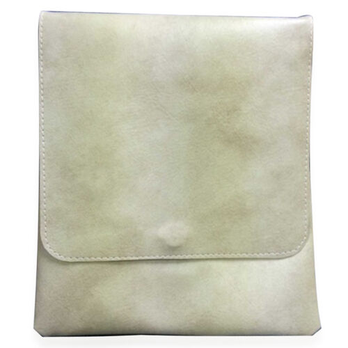 Faux Leather White Colour Shoulder Bag with Strap (Size 23x26)