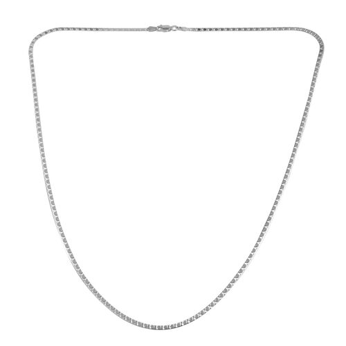 JCK Vegas Collection Sterling Silver Flatened Snake Chain (Size 24), Silver wt 4.70 Gms.