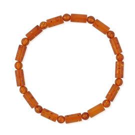 Tucson Collection Baltic Amber (Rnd) Stretchable Bracelet (Size 7.5)