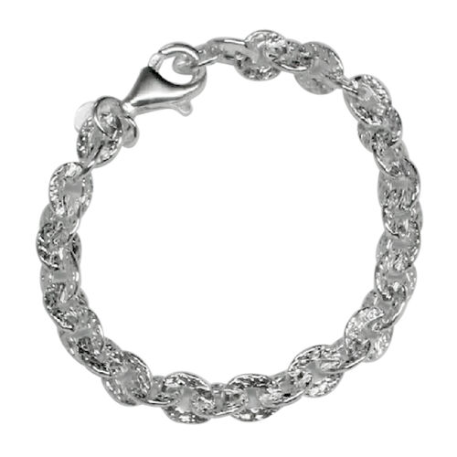 Vicenza Collection Sterling Silver Link Chain (Size 18), Silver wt 15.08 Gms.