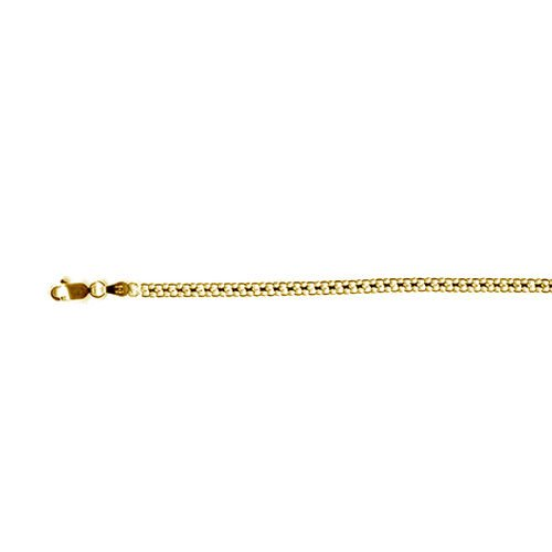 Vicenza Collection 14K Gold Overlay Sterling Silver Bismark Chain (Size 20), Silver wt 4.15 Gms.