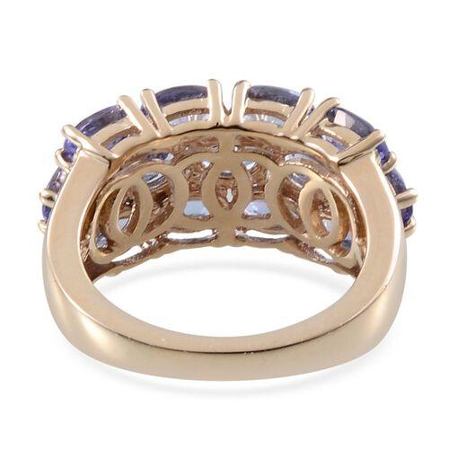 9K Y Gold Tanzanite (Ovl) Ring 3.650 Ct.