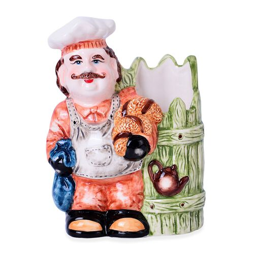 Home Decor - Ceramic Chef Tableware Containers (Size 19x12.7x7.5 Cm)