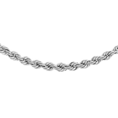 Close Out Deal 9K W Gold Rope Necklace (Size 20), Gold wt 4.80 Gms.