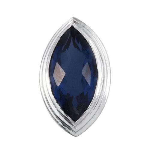 Checkerboard Cut Ceylon Colour Quartz (Mrq) Solitaire Pendant in Platinum Overlay Sterling Silver 4.500 Ct.
