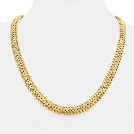 Limited Edition - Vicenza Collection 9K Yellow Gold Byzantine Necklace (Size 18 with 2 Inch Extender), Gold wt 15.90 Gms.
