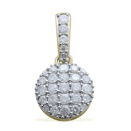9K Y Gold SGL Certified Diamond (Rnd) (I3/ G-H) Pendant 1.000 Ct.