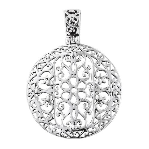 Filigree Circle Pendant in Sterling Silver