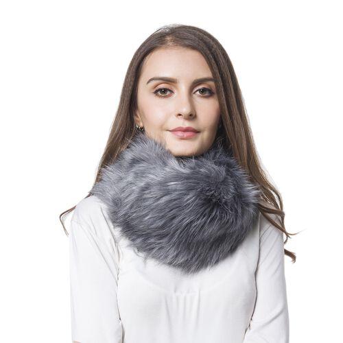 Grey Colour Faux Fur Snood (Size 38x16 Cm)