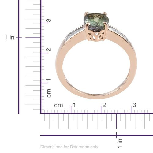 9K Y Gold Rare Green Tanzanite (Ovl 1.75 Ct), Diamond Ring 2.000 Ct.