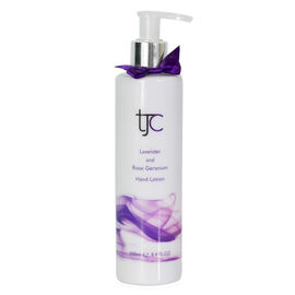 TJC Lavender and Rose Geranium Moisturising Hand Lotion Pump 250ml