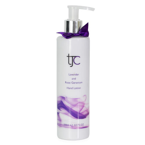 TJC Lavender and Rose Geranium Moisturising Hand and Body Lotion Pump 250ml
