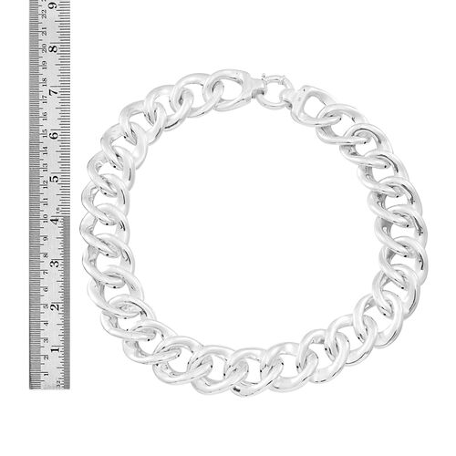 Designer Inspired Sterling Silver Curb Necklace (Size 20), Silver wt 72.20 Gms.
