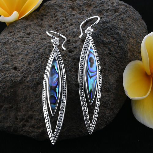Royal Bali Collection Abalone Shell Earrings in Sterling Silver, Silver wt 5.80 Gms.