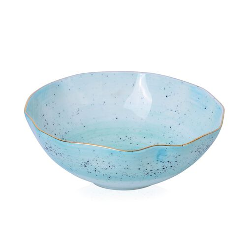 Luxury Edition Home Decor - 3 pcs Hand Painted Turquoise Colour Top Grade Porcelain Dining Set