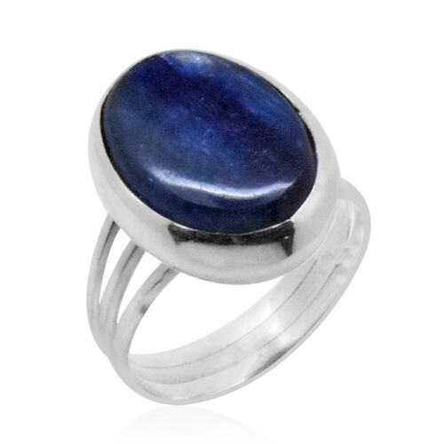Royal Bali Collection Himalayan Kyanite (Ovl) Ring in Sterling Silver 11.980 Ct.