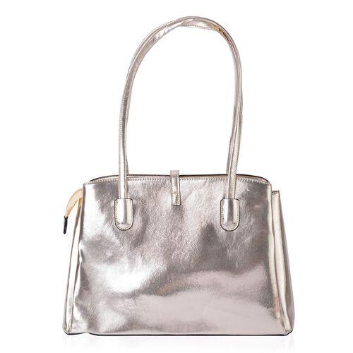 Golden Colour Tote Bag (Size 35.5x23.5x13 Cm)