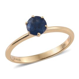 ILIANA 18K Yellow Gold 1 Ct. AAA Blue Sapphire Solitaire Ring