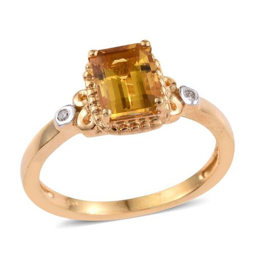 Marialite (Oct), Diamond Ring in 14K Gold Overlay Sterling Silver 1.270 Ct.